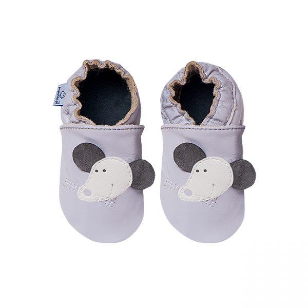 Kapcie dla dzieci – Paputki Popielate z myszką XL
