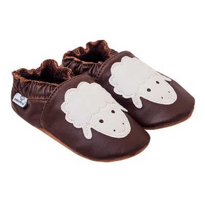 Kapcie dla dzieci – Paputki Czekoladowy brąz z owieczką XL