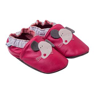 Kapcie dla dzieci – Paputki Ciemny róż z myszką S