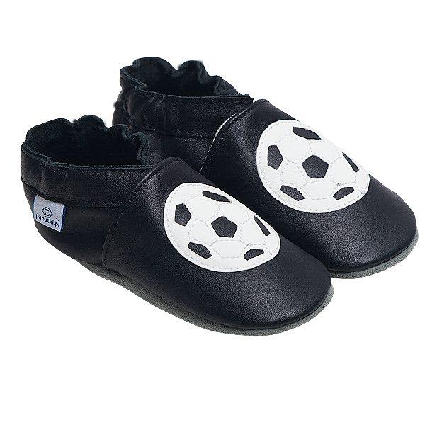 Kapcie dla dzieci – Paputki Czarne z piłkami XL