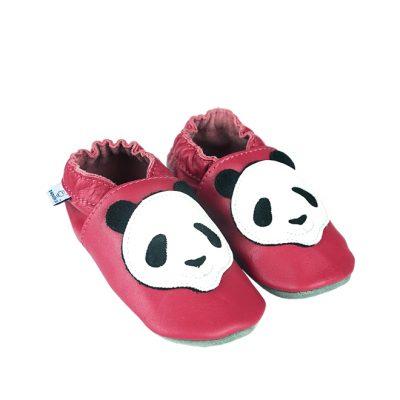 Kapcie dla dzieci – Paputki  róż z pandą XL