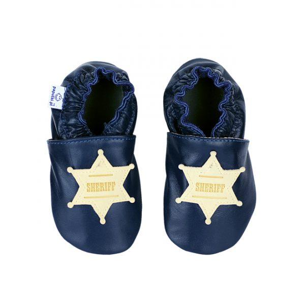Kapcie dla dzieci – Paputki granatowe dla szeryfa S
