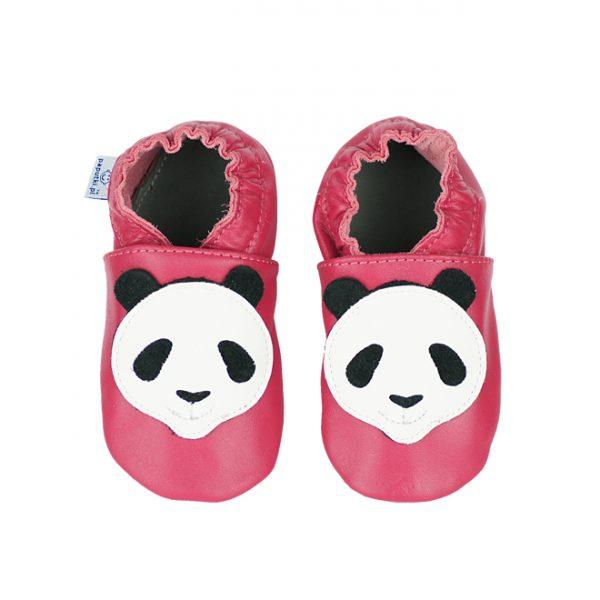 paputki, kapcie dla dzieci, kapcie różowe z pandą