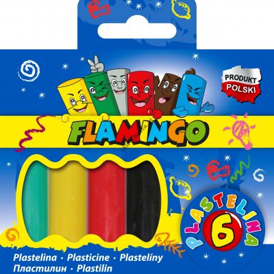 Plastelina Flamingo 6 kolorów