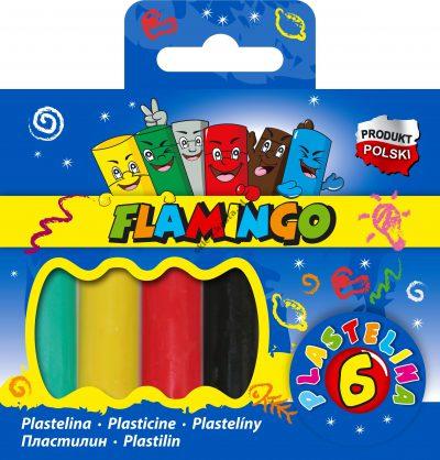 Plastelina 6 kolorów Flamingo