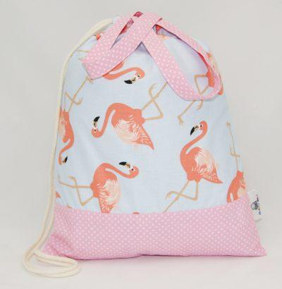 worek na kapcie z flamingami