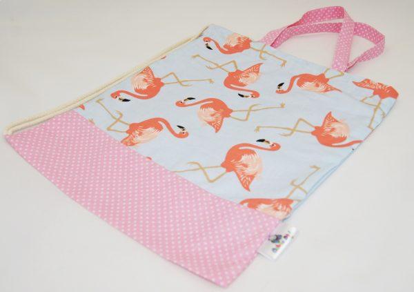 worek na buty flamingi