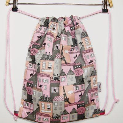 Worek-plecak na buty Z różowym miasteczkiem