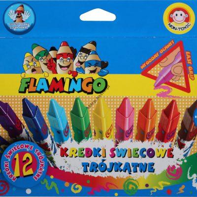 Kredki świecowe 12 kolorów Flamingo