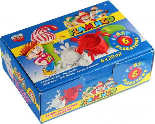 Farby plakatowe Flamingo 6 kolorów x 20 ml