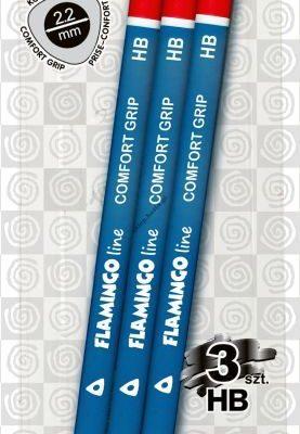 Ołówki Flamingo Line z temperówką