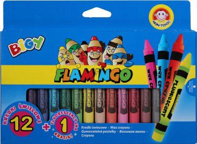 Flamingo Kredki świecowe 13 sztuk