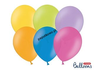 Balon gumowy pastelowy Partydeco Party Deco BALONY STRONG PASTEL mix 50 szt (SB12P-000/50)