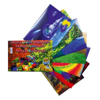 Zeszyt papierów kolorowych Cormoran samoprzylepne A4 7k 295x205 mm