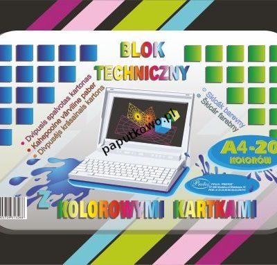 Blok techniczny Protos kolor A4 160g 20k