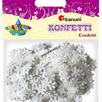 Konfetti Titanum Craft-Fun Series Płatki śniegu białe