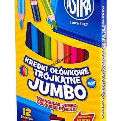 Kredki ołówkowe Astra Vision Jumbo 12 kol. (312110007)