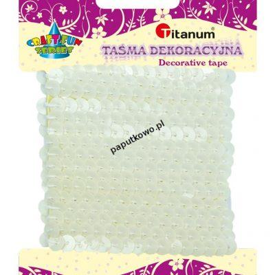 Cekiny Titanum Craft-fun sznurek z cekinów Craft-fun (biały)