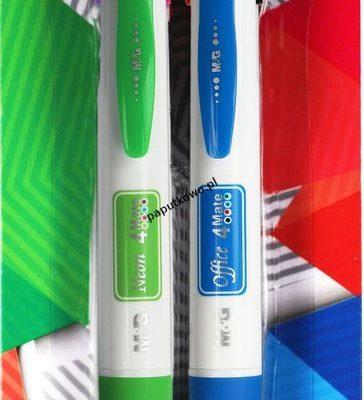 Długopis wielofunkcyjny M&G 4 Mate Neon + Office, mix wkład 0,7 mm (HABP0612)