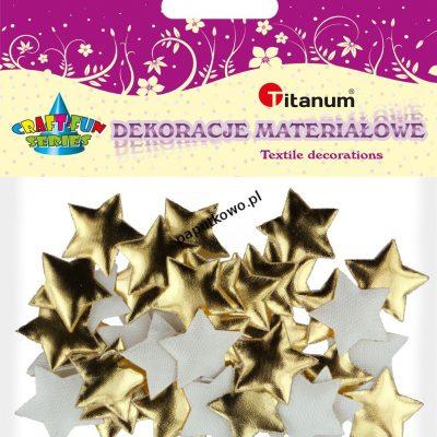 Ozdoba materiałowa Titanum Craft-fun Craft-Fun Series gwiazdki złote 40 szt (MTCR-BY162)