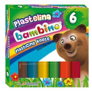 Plastelina St.Majewski 6 kol. BAMBINO mix