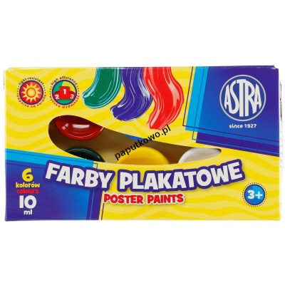 Farby plakatowe Astra kolor: mix 10 ml 6 kol. (83111903)