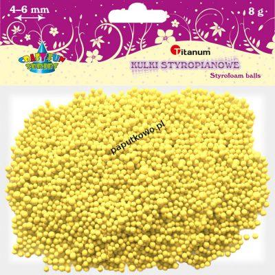 Ozdoba styropianowa Titanum Craft-fun kulki styropianowe Craft-fun żółty (5mm/8g)