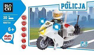 Klocki pozostałe Icom Klocki Blocki policja (KB6734)