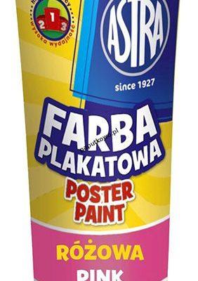 Farby plakatowe Astra kolor: różowy 30 ml 1 kol.