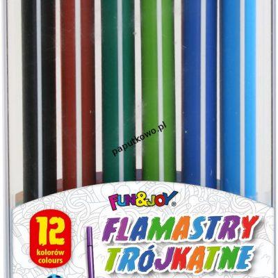 Flamaster Fun&Joy trójkątne 12 kol. (FJ-206-12)