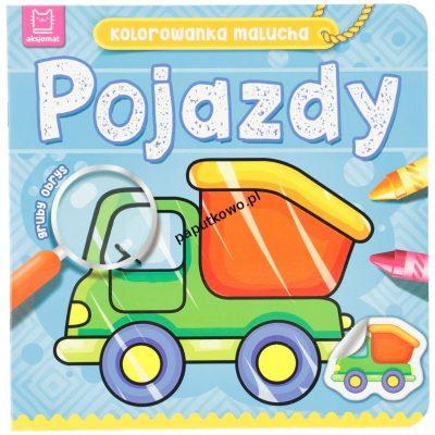 Książeczka edukacyjna Aksjomat Kolorowanka malucha. Pojazdy (2180)