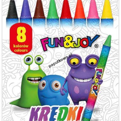 Kredki świecowe Fun&Joy 8 kol. (FJ2108D)
