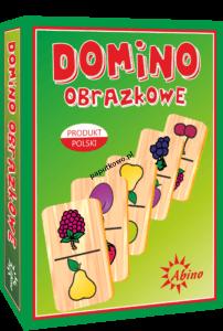 Gra logiczna Domino Abino owoce Zwierzęta