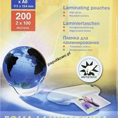 Folia do laminowania Titanum A6 kolor: przezroczysty 100 mic. 111 mm x 154 mm