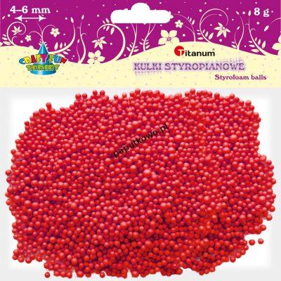 Ozdoba styropianowa Titanum Craft-fun kulki styropianowe Craft-fun czerwony (5mm/8g)