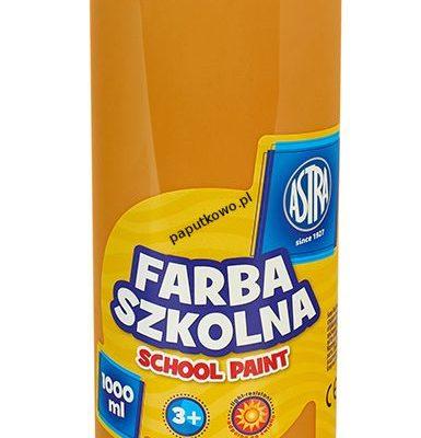 Farby plakatowe Astra szkolne kolor: brązowy jasny 1000 ml 1 kol.