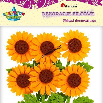Ozdoba filcowa Titanum Craft-fun Craft-fun kwiaty 3D filc (BR162)