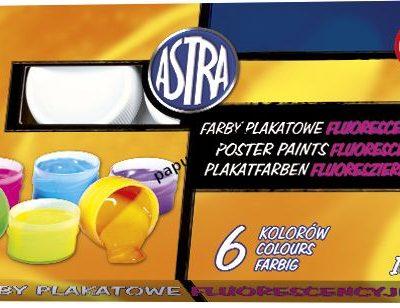 Farby plakatowe Astra fluorescencyjne 6 kolorów kolor: mix 10 ml 6 kol.