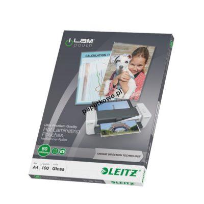 Folia do laminowania Leitz iLAM A4 kolor: przezroczysty 80 mic. 222 mm x 309 mm (74780000)