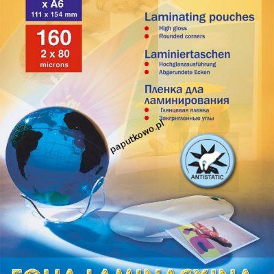 Folia do laminowania Titanum A6 kolor: przezroczysty 80 mic. 111 mm x 154 mm