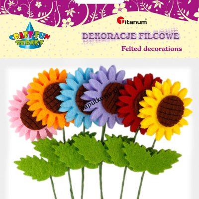 Ozdoba filcowa Titanum Craft-fun Craft-fun kwiaty filc 3d (BR165)