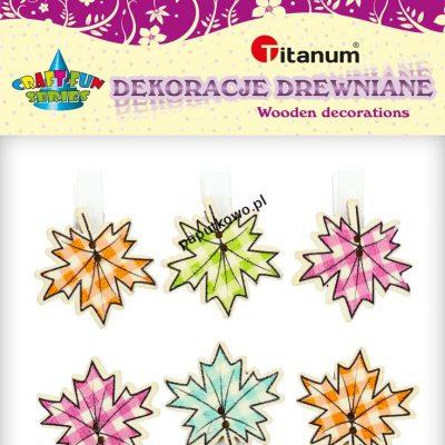 Ozdoba drewniana Titanum Craft-fun spinacze drewniane Craft-fun mix 6 szt (C311)