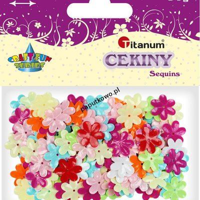 Cekiny Titanum Craft-fun Craft-Fun Series kwiatki (CK061)
