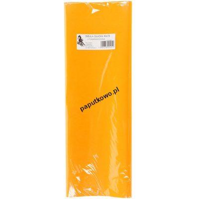 Bibuła gładka jasny pomarańczowy gładka pomarańczowa 700 mm x 500 mm (05)