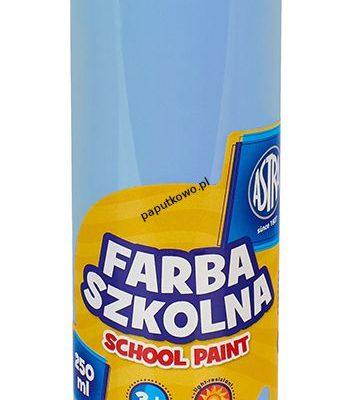 Farby plakatowe Astra szkolne kolor: błękitny 250 ml 1 kol.