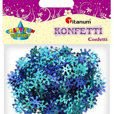 Konfetti Titanum Craft-Fun Series Płatki śniegu tonacja niebieska