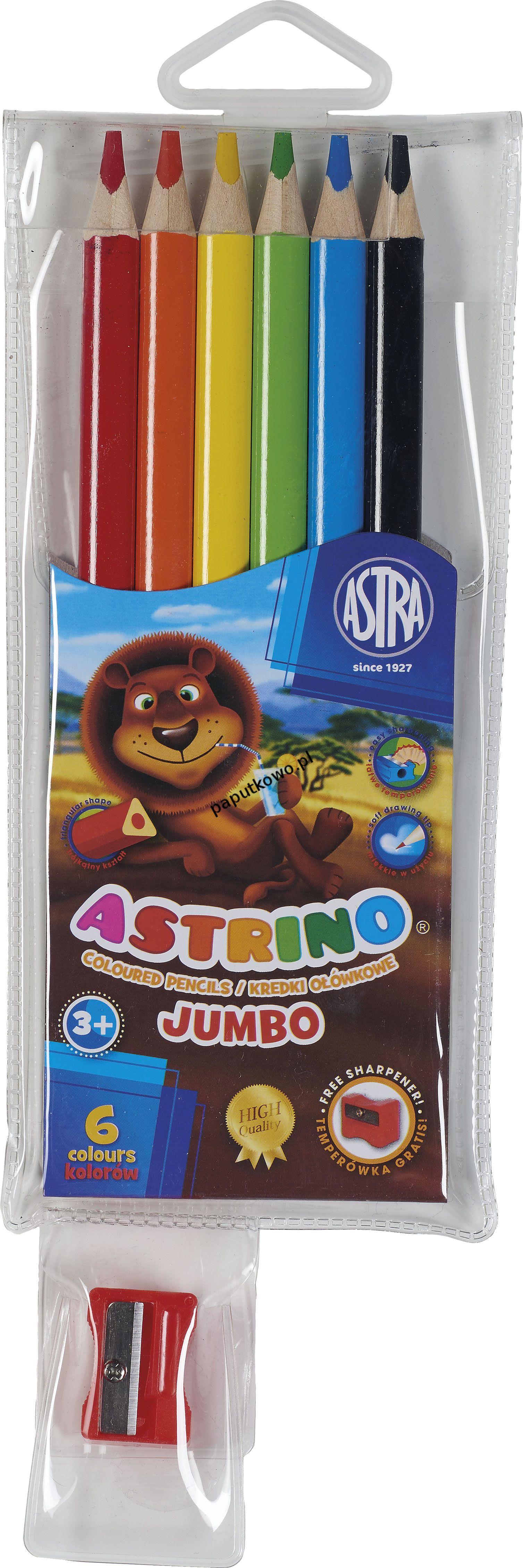 Kredki ołówkowe Astra Astrino 6 kol. (312115003)
