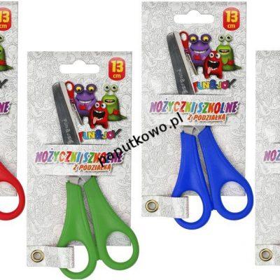 Nożyczki praworęczne Fun&Joy z podziałką 13 cm (FJS1002)