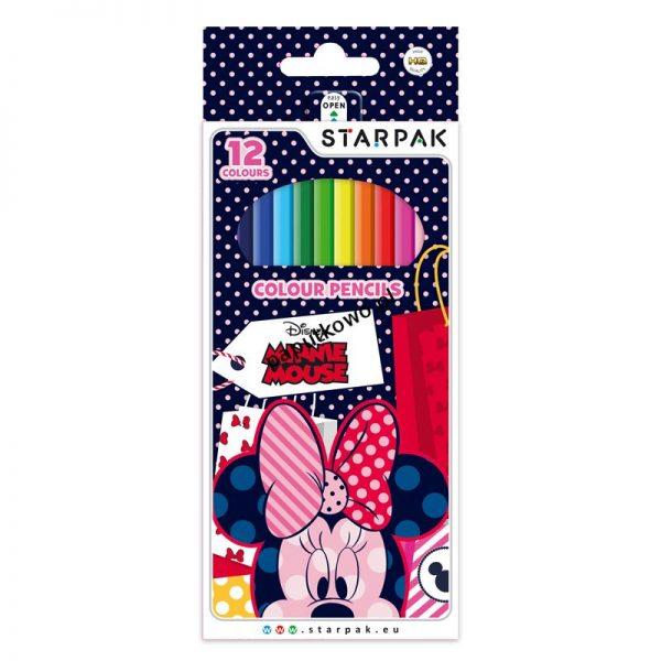 Kredki ołówkowe Starpak Myszka Minnie 12 kol. (347592)