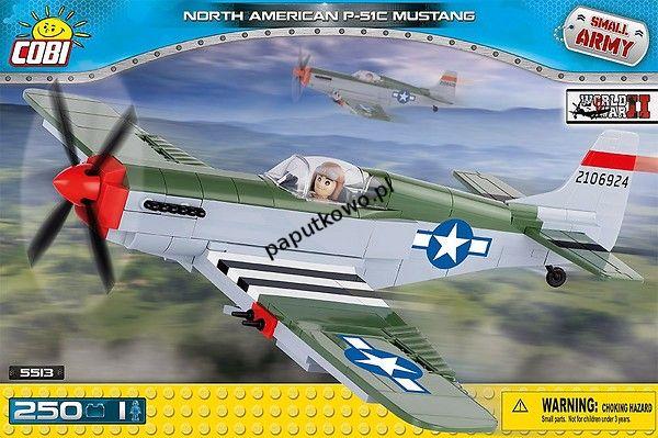 Klocki plastikowe Cobi Small Army Myśliwiec P-51C Mustang (5513)